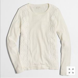 NWOT Lace Panel Teddie Sweater